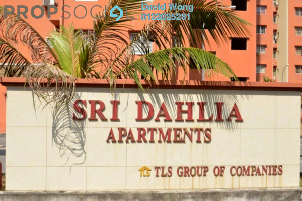 For Rent Apartment at Sri Dahlia Apartment, Kajang Freehold Fully Furnished 3R/2B 1.5k