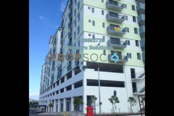 For Rent Condominium at Suria Court, Bandar Mahkota Cheras Freehold Semi Furnished 3R/2B 1.2k