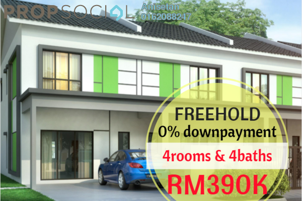 For Sale Terrace at Alamanda Parklands, Rawang Freehold Unfurnished 4R/4B 391k