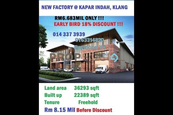 For Sale Factory at Kapar Industrial Park, Kapar Freehold Unfurnished 0R/2B 6.7百万