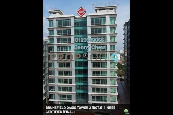 For Rent Office at Oasis Corporate Park, Ara Damansara Freehold Semi Furnished 0R/0B 44k