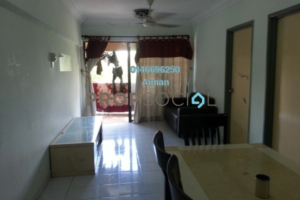 For Sale Apartment at Perdana Apartment, Shah Alam Freehold Semi Furnished 3R/2B 260k