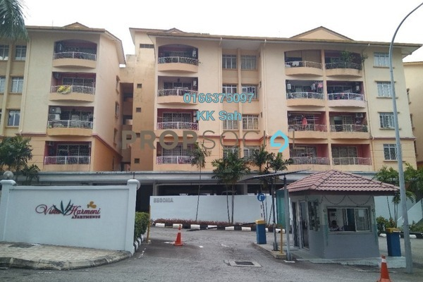 For Sale Condominium at Vista Harmoni, Cheras South Freehold Semi Furnished 3R/2B 388k