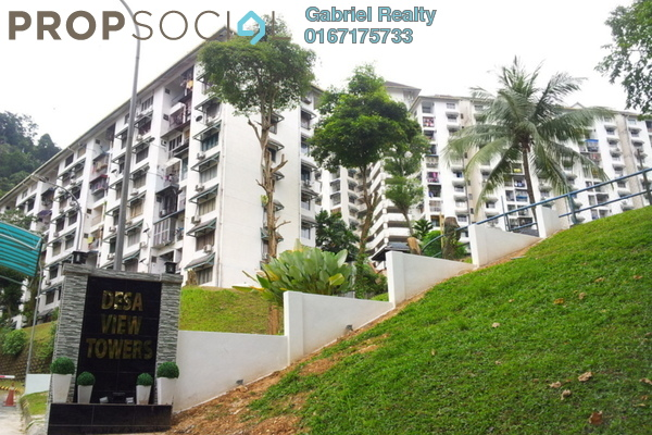 For Rent Apartment at Desa View Towers, Melawati Freehold Fully Furnished 4R/2B 1.1k