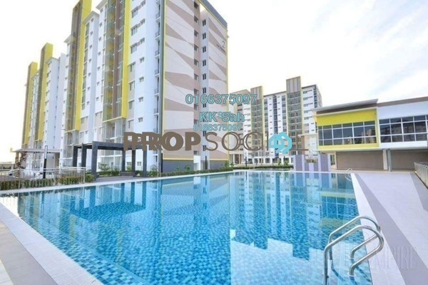 For Sale Condominium at Seri Pinang Apartment, Setia Alam Freehold Semi Furnished 3R/2B 345k