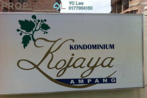 For Sale Condominium at Kojaya, Ampang Freehold Semi Furnished 3R/2B 375k