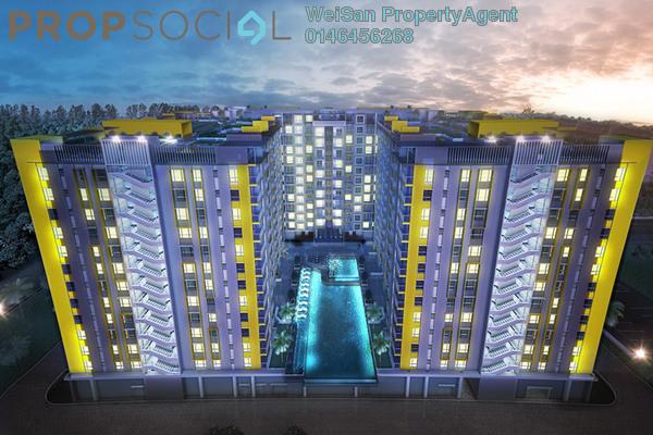For Sale Condominium at Bandar Pinggiran Subang, Subang Freehold Fully Furnished 3R/2B 320k
