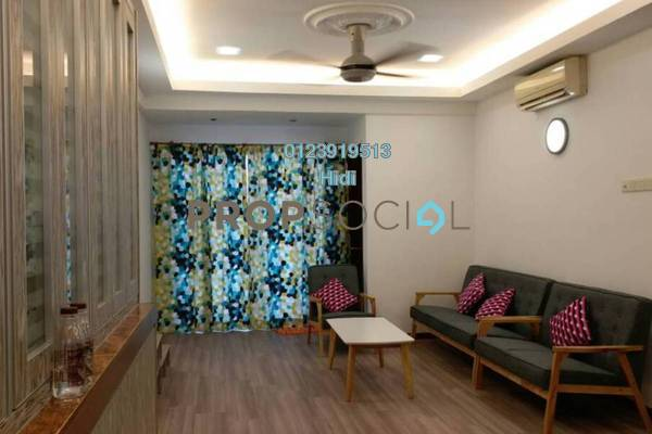 For Rent Condominium at Nilam Puri, Bandar Bukit Puchong Freehold Fully Furnished 3R/2B 1.4k