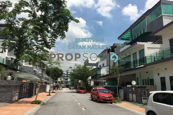 For Rent Superlink at Beverly Heights, Ukay Freehold Semi Furnished 5R/6B 4.5k