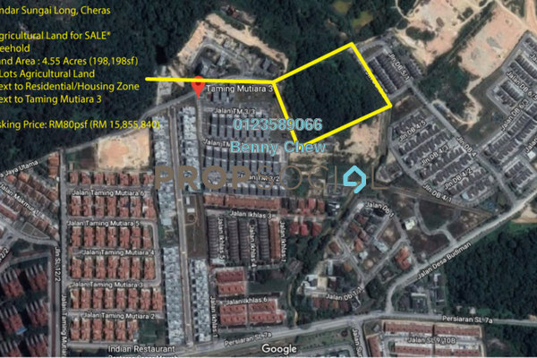 For Sale Land at Taming Mutiara, Bandar Sungai Long Freehold Unfurnished 0R/0B 15.9m