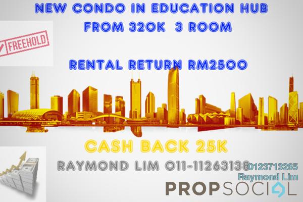 For Sale Condominium at The Villas, Bandar Enstek Freehold Semi Furnished 3R/2B 320k