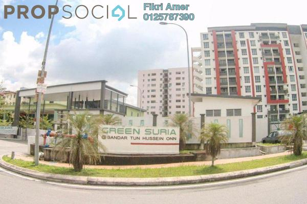 For Sale Apartment at Green Suria Apartment, Bandar Tun Hussein Onn Freehold Unfurnished 3R/2B 375k