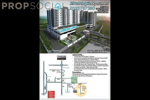 For Sale Apartment at Surian Tropika Homes, Bandar Sungai Long Freehold Unfurnished 3R/2B 270k