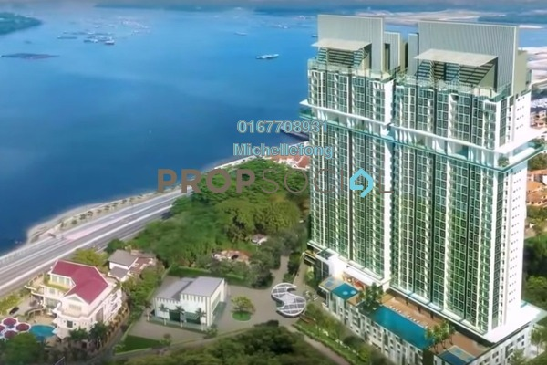 For Rent Serviced Residence at Paragon Residences @ Straits View, Johor Bahru Freehold Semi Furnished 2R/2B 1.6k