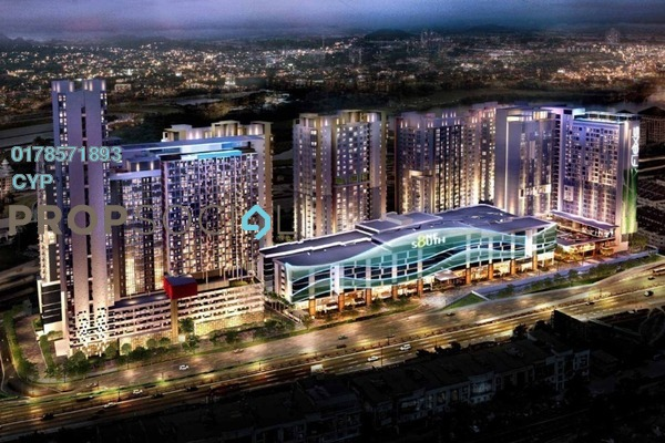 For Rent Condominium at Parc @ One South, Seri Kembangan Freehold Fully Furnished 3R/2B 1.5k
