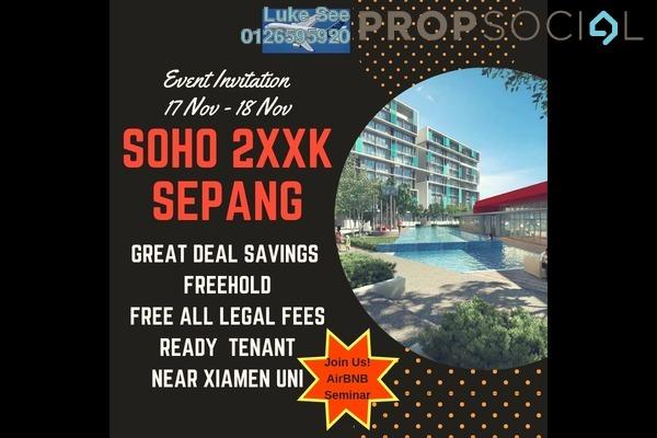 For Sale SoHo/Studio at Core SoHo Suites, Sepang Freehold Semi Furnished 1R/1B 251k