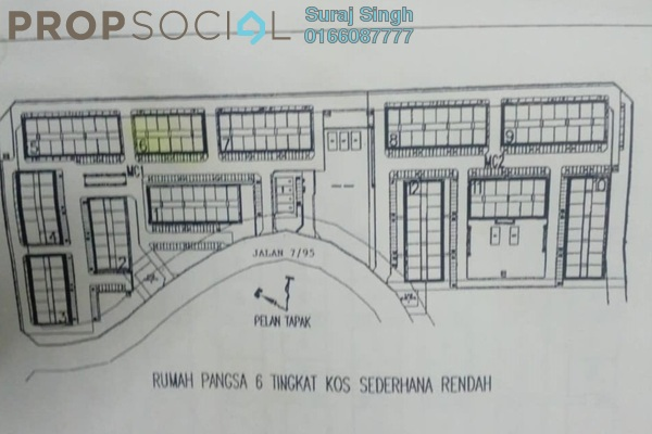 For Sale Apartment at Section 7, Shah Alam Freehold Unfurnished 3R/2B 190k