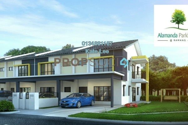 For Sale Terrace at Alamanda Parklands, Rawang Freehold Unfurnished 4R/4B 390k