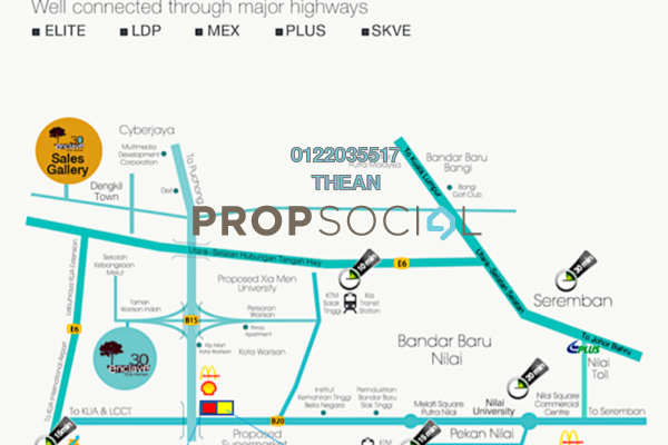For Rent Land at Kota Warisan, Sepang Freehold Unfurnished 0R/0B 34.8k