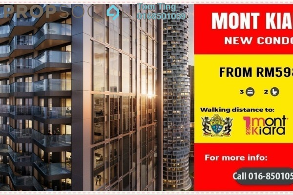 For Sale Condominium at Kiara Designer Suites, Mont Kiara Freehold Unfurnished 3R/2B 598k