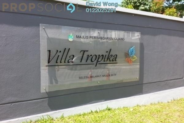 For Rent Apartment at Villa Tropika Apartment, Bangi Freehold Semi Furnished 3R/2B 1.2k