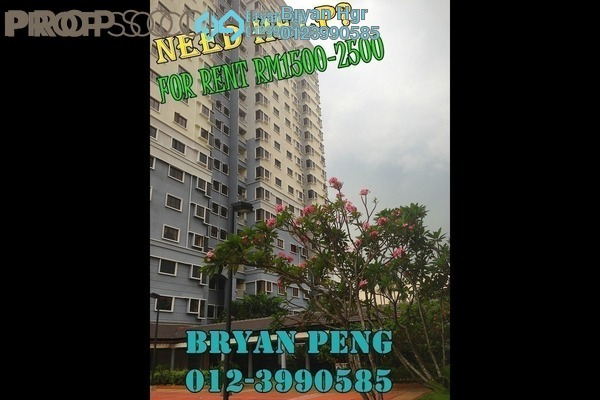 For Rent Condominium at Pelangi Utama, Bandar Utama Leasehold Semi Furnished 3R/2B 1.8k