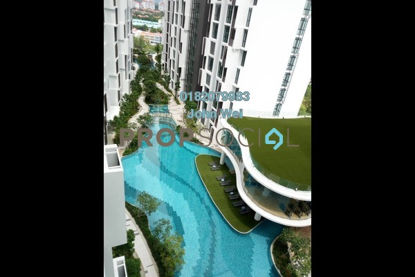For Rent Condominium at H2O Residences, Ara Damansara Freehold Semi Furnished 1R/1B 1.1k