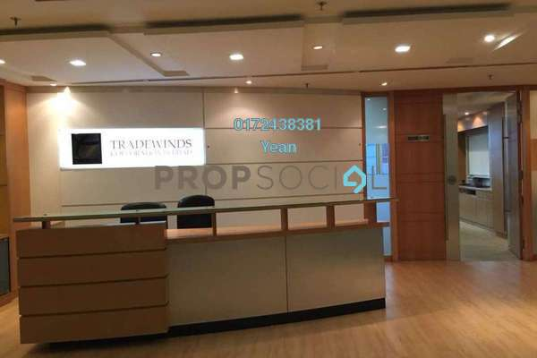 For Rent Office at Plaza Sentral, KL Sentral Freehold Semi Furnished 0R/0B 39.6k