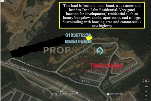 For Sale Land at Twin Palms, Bandar Sungai Long Freehold Unfurnished 0R/0B 37.3m