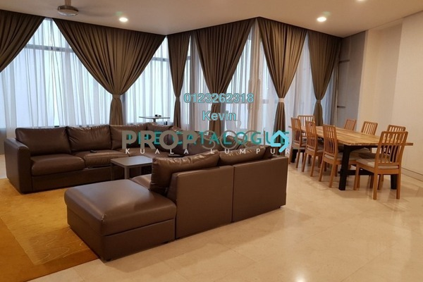 For Rent Condominium at The Troika, KLCC Freehold Fully Furnished 3R/3B 9k