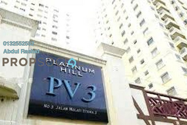 For Rent Condominium at Platinum Hill PV3, Setapak Freehold Semi Furnished 3R/2B 1.3k