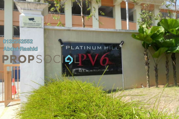 For Rent Condominium at Platinum Hill PV6, Setapak Freehold Semi Furnished 4R/2B 1.4k