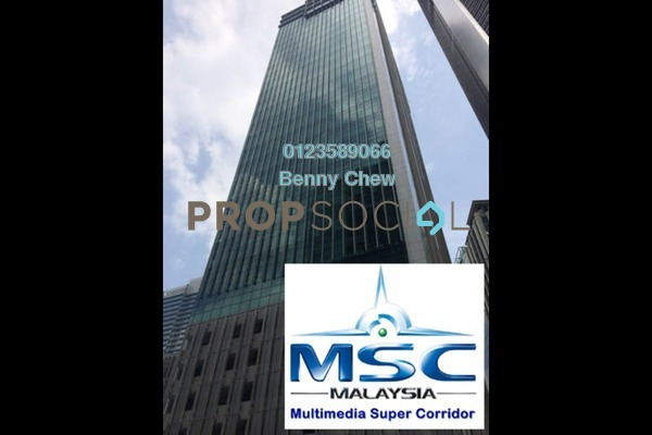 For Rent Office at Menara Binjai, KLCC Freehold Semi Furnished 0R/0B 17k