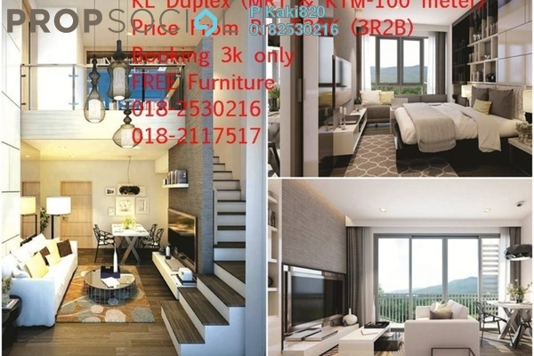 For Sale Serviced Residence at Maju Kuala Lumpur, Sungai Besi Freehold Semi Furnished 3R/2B 530k