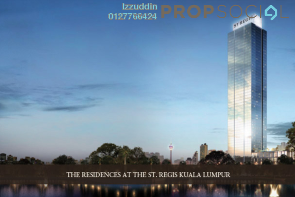 For Sale Serviced Residence at St Regis Residences, KL Sentral Freehold Semi Furnished 3R/3B 3.7m