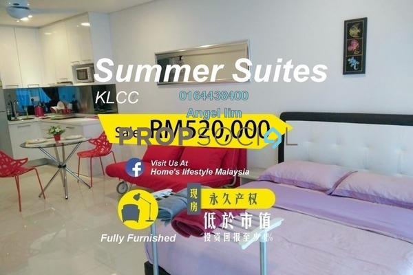 For Sale Condominium at Summer Suites, KLCC Freehold Fully Furnished 1R/1B 520k
