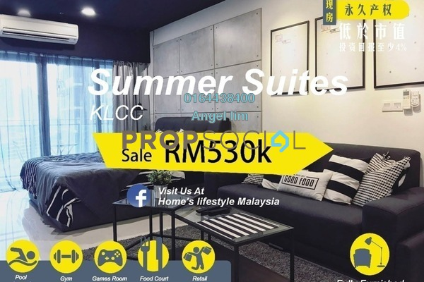 For Sale Condominium at Summer Suites, KLCC Freehold Fully Furnished 1R/1B 530k