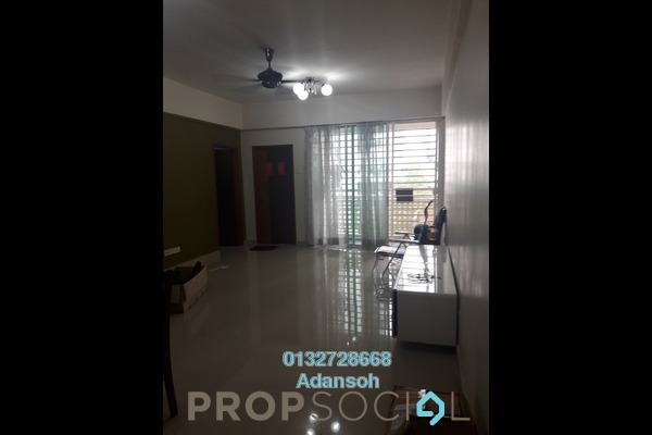 For Rent Apartment at Bukit Segambut, Segambut Freehold Semi Furnished 3R/2B 1.25k
