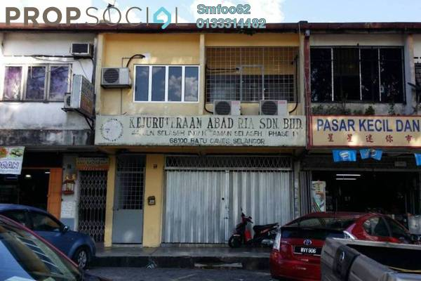 For Sale Shop at Taman Selasih, Batu Caves Freehold Unfurnished 0R/0B 888k
