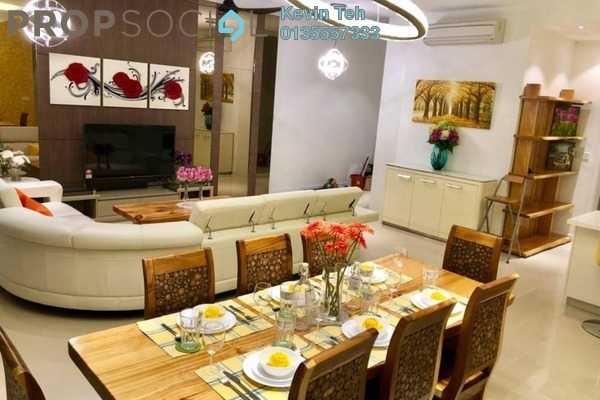 For Rent Condominium at Pavilion Hilltop, Mont Kiara Freehold Fully Furnished 3R/4B 8k