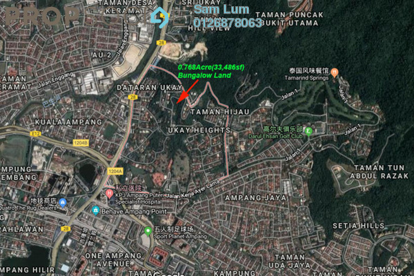 For Sale Land at Ukay Heights, Ukay Freehold Unfurnished 0R/0B 11.7m