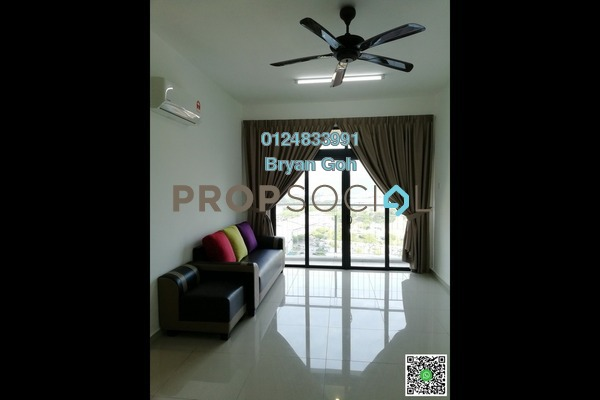 For Rent Condominium at Promenade Residence, Bayan Baru Freehold Semi Furnished 3R/2B 1.8k