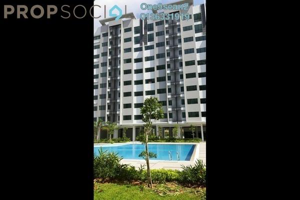 For Sale Apartment at Suria Rafflesia, Setia Alam Freehold Semi Furnished 3R/2B 268k