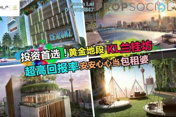 For Sale Condominium at Ceylonz Suites, Bukit Ceylon Freehold Semi Furnished 1R/1B 552k
