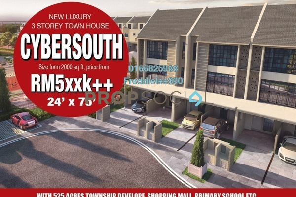 For Sale Townhouse at Cybersouth, Dengkil Freehold Semi Furnished 3R/2B 538k