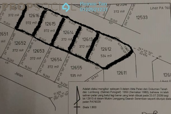 For Sale Land at Lenggeng, Negeri Sembilan Freehold Unfurnished 0R/0B 168k