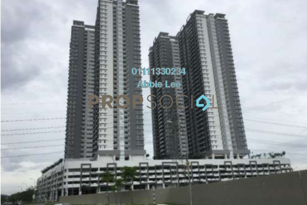 For Rent Condominium at Aurora Residence @ Lake Side City, Puchong Freehold Semi Furnished 3R/2B 1.2k