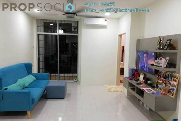 For Rent Apartment at Ria Apartment, Kepong Freehold Fully Furnished 3R/2B 1.5k