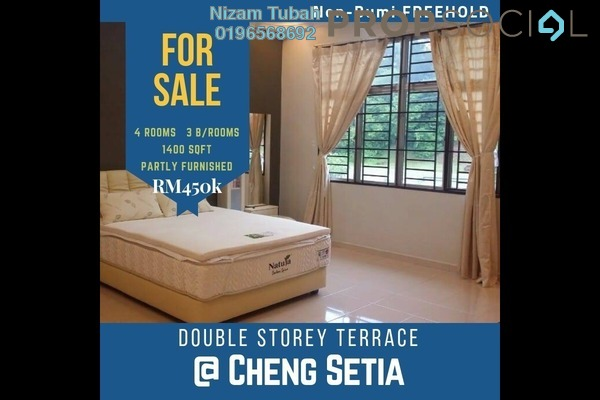 For Sale Terrace at Taman Cheng Indah, Melaka Leasehold Semi Furnished 4R/3B 458k