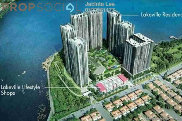 For Sale Serviced Residence at Lakeville Residence, Jalan Ipoh Freehold Semi Furnished 3R/2B 438k